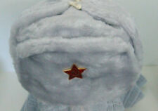 Authentic Russian Military Off/White Ushanka W/ Red Star