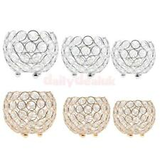 10/12/15cm Crystal Votive Tealight Candle Holder Wedding Christmas Party Decor