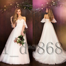 White/ivory Strapless Wedding Dresses Bridal Gowns Backless A Line Lace Applique