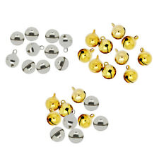 10x 14mm Metal Christmas Jingle Bells Pendants Charms Craft Beads Making Jewelry