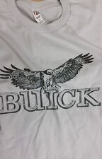 Men's Silver White Vintage Buick Owl Logo Tee T Shirt L XL 2X Extra Large New