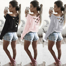 Loose Long Sleeve Shirt Casual T Shirt Womens Blouse Tops New Fashion