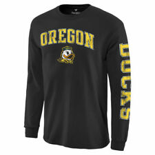 Oregon Ducks Black Distressed Arch Over Logo Long Sleeve Hit T-Shirt - College