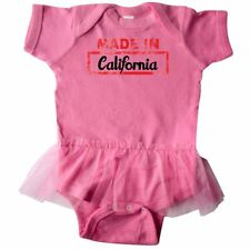 Inktastic Made In California Stamp Infant Tutu Bodysuit Baby State Dress