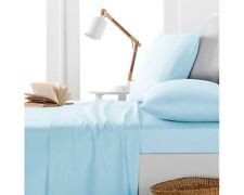 Australian Bedding Collection-1000 TC 100% Egyptian Cotton Light Blue Solid