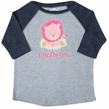 Inktastic Loved By Oma Toddler T-Shirt Lion Pink Cute Animal Grandma Greatest