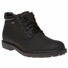 New Mens Rockport Black Storm 2 Leather Boots Lace Up