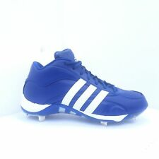 Adidas Excelsior 5 Mens Mid Baseball Cleats Metal Royal Blue 466366 New SIZE 9.5