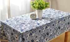 Printed Rectangle Shape Dust-Proof Water-Proof Table Cloth For Home Decor