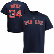 Majestic David Ortiz Boston Red Sox Navy Official Name and Number T-Shirt - MLB