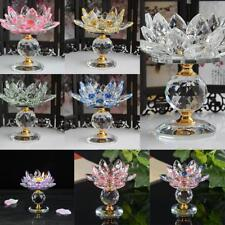 Crystal Buddhist Lotus Tea Light Candle Holder Candlestick Light Lamp Base