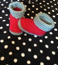 Baby Crochet Shoes Handmade AU Made Knitted Booties 0-3; 3-6 & 6-12 months
