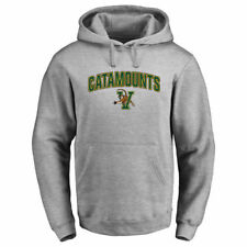 Vermont Catamounts Ash Proud Mascot Pullover Hoodie - - College