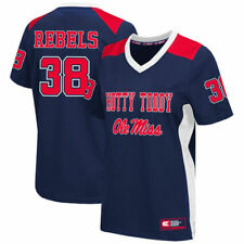Colosseum #38 Ole Miss Rebels Women's Navy Football Jersey - College