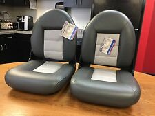 Boat Seats TEMPRESS Navistyle Charcoal Gray  - PAIR (2) TWO SEATS Made in USA