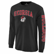 Georgia Bulldogs Black Distressed Arch Over Logo Long Sleeve Hit T-Shirt