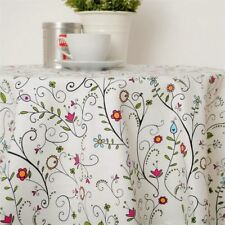 Home Party Decor Vintage Fashion Cloth Material Solid Pattern Tablecloth