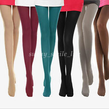 Women Warm Stockings Footed Socks Stretch Tights Opaque Pantyhose 120 Denier NEW