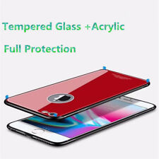 360 Degree Full Hybrid Tempered Glass +Acrylic Hard Case Cover For iPhone 6 6S 7