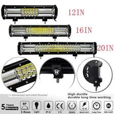 12in/16in/20in 540W Tri-row LED Bar Work Light Flood Spot Combo Lamp Road N7Q4