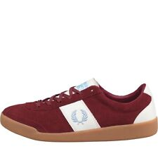 Fred Perry Mens Stockport Suede FP'82 Trainers Maroon 8 UK