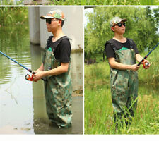 Fly Fishing Wading Rubber Pants Wader Boots Kit Camouflage Waterproof Breathable