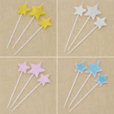 3pcs Candle Star Cake Topper Birthday Decoration Present Gift Idea Candle Cute
