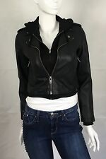 Urban Outfitters Silence+Noise Jacket Motorcycle Faux Leather Black Size S,M NWT