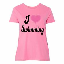 """Inktastic I Love Swimming Women's Plus Size T-Shirt """"swimming"""" """"gift For Lover"""""""