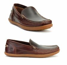 Timberland Men's Odlay Venetia Burgundy Leather Slip On Loafer Shoes A13JL USA