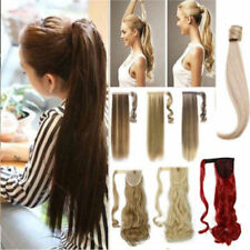 US 1PC Long Straight Curly Wavy Ponytail Clip in Hair Extension Real Thick Piece