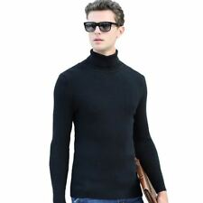 4 Color Winter Style New Fashion High Necked Elastic Sweater For Men E574