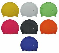 CHEX 100% Silicone Plain Childrens Kids First Grade A Strong Swimming Hat Cap