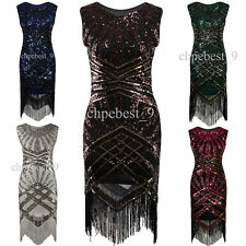Sequins Beads Tassels 1920s Flapper Dress Gatsby Vintage Prom Ball Party Dresses