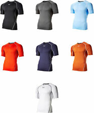Under Armour Men's HeatGear Armour Short Sleeve Compression Shirt, 15 Colors