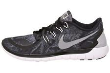 Nike Free 5.0 Solstice Mens Running Shoes Run Sneakers Black Silver 806587-001