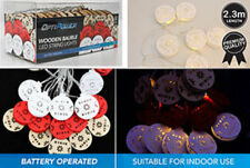 led wood bauble string lights battery opperated 3 colours 2.3 meters buy one ge