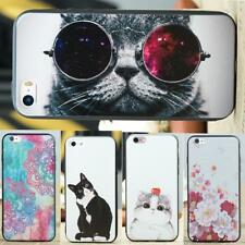 Funny Cat Dog Owl Flowers Pattern TPU Cover Case for iPhone 6 6s Plus 5S 5 SE 7
