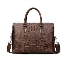 Crocodile Genuine Leather Luxury Laptop bags for Men Cow Leather Notebook bag Fa