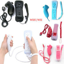 New 2 in1 Wiimote Built in Motion Plus Inside Remote Controller Nunchuck For Wii