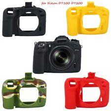 Silicone Camera Body Soft Protection Housing Cover Case For Nikon D7100/D7200