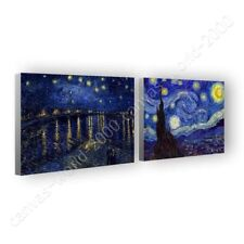 CANVAS (Rolled) Starry Night Over Rhone Vincent Van Gogh Set Of 2 Painting Art