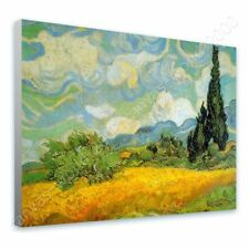 CANVAS (Rolled) Wheat Field With Cypresses Vincent Van Gogh Oil Paints