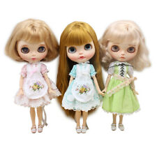 Doll Clothes for 12'' Takara Blythe Lace Maid Dress Skirt Dress Outfits Clothing