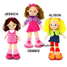 RAG DOLL CHILDRENS SOFT TOY 35CM GIFT TOYS 3 TYPES TO CHOOSE ON PAGE