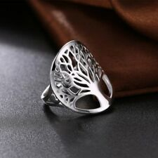 925 Sterling Silver Tree of Life Ring sz 6-9 Free Gift Box