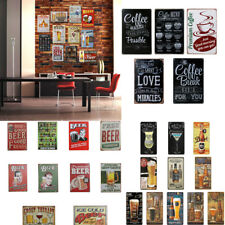 Rustic Country Tin Wall Sign Metal Poster Plaque Bar Club Wall Home Decor -BEERS