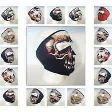 Neoprene Skeleton Full Face Skull Mask Motorcycle Motor Bike New