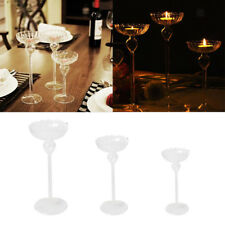 Romantic Glass Pillar Votive Tea Light Candle Holder Candlestick Wedding Decor