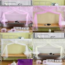 Students Dormitory Bed Canopy Mosquito Net Bunk Encrypted 4 Corner Post Netting
